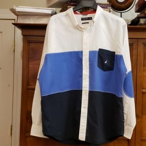 NAUTICA A Bit Slimmer Block Color Shirt XXL